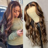 Ulovewigs Human Virgin Hair Pre Plucked Lace Front Wig  Free Shipping (ULW0491)