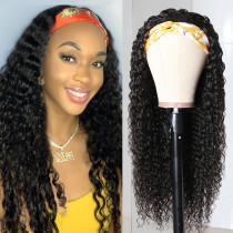 Ulovewigs Curly Wigs with Headbands for  Women Human Hair Wigs Free Shipping (ULW0521)