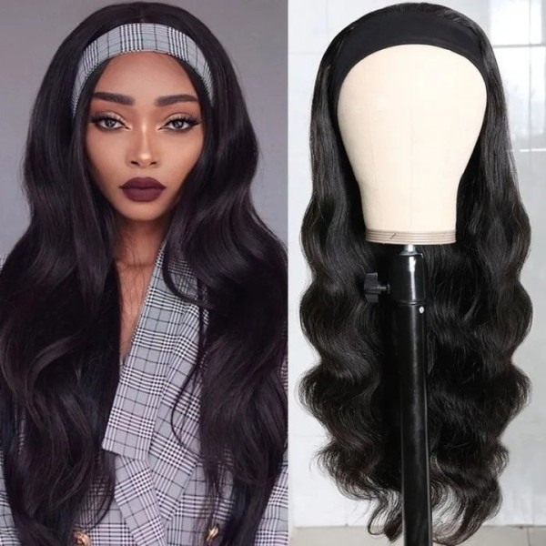 Ulovewigs Body Wave Wigs with Headbands for  Women Human Hair Wigs Free Shipping (ULW0520)