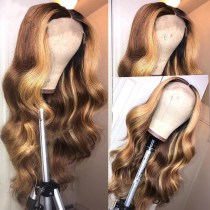 Ulovewigs Human Virgin Hair Pre Plucked Lace Front Wig  Free Shipping (ULW0377)