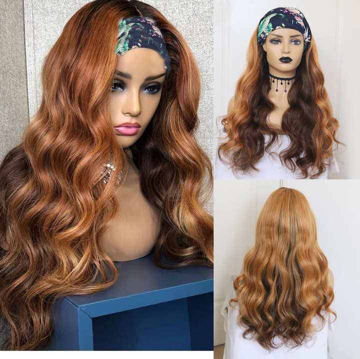 Ulovewigs Straight Wigs with Headbands for  Women Human Hair Wigs Free Shipping (ULW0524)