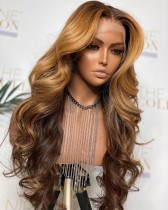 Ulovewigs Human Virgin Hair Pre Plucked Lace Front Wig  Free Shipping(ULW0069)