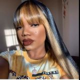 Ulovewigs Human Virgin Hair Pre Plucked Lace Front Wig  Free Shipping (ULW0527)