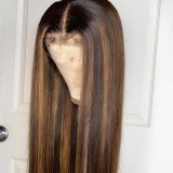 Ulovewigs Human Virgin Hair Pre Plucked Lace Front Wig  Free Shipping (ULW0528)