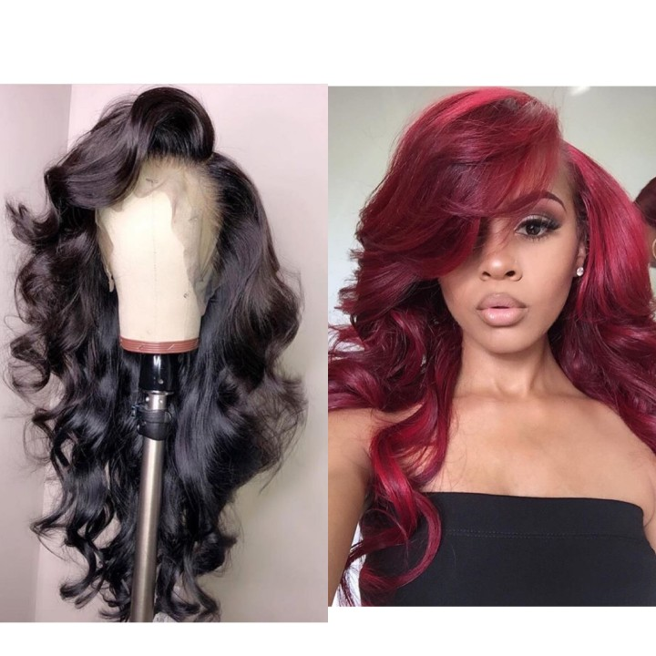 Ulovewigs Human Virgin Hair  Pre Plucked Lace Front Wig And Full Lace Wig  Free Shipping (ULW0530)