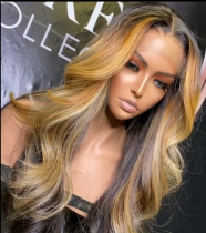 Ulovewigs Human Virgin Hair Pre Plucked Lace Front Wig Free Shipping (ULW0468)