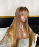 Ulovewigs Human Virgin Hair Pre Plucked Lace Front Wig And Full Lace Wig And 5x5 Transparent lace wigFree Shipping (ULW0534)