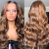 Ulovewigs Human Virgin Hair Pre Plucked Lace Front Wig  Free Shipping (ULW0361)