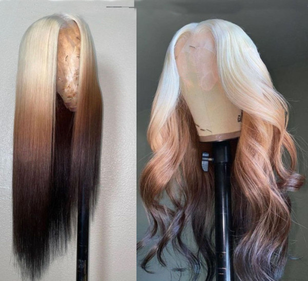 Ulovewigs Human Virgin Hair Pre Plucked Lace Front Wig And Full Lace Wig 5X5 lace wig Free Shipping (ULW0329)