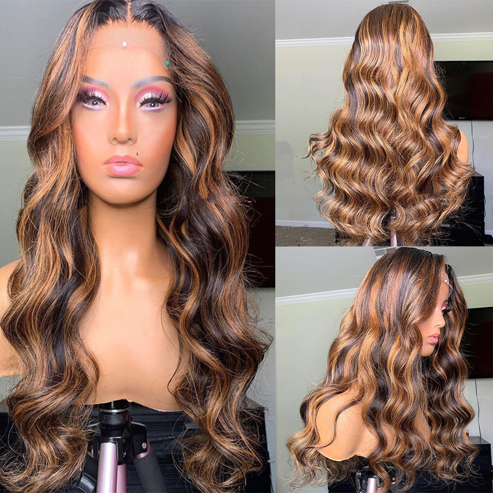 Ulovewigs Human Virgin Hair Pre Plucked Lace Front Wig And Full Lace Wig Free Shipping (ULW0361)