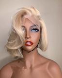 Ulovewigs Pre Plucked Human Virgin Hair 1b/613 bob wigs (ULW0015)