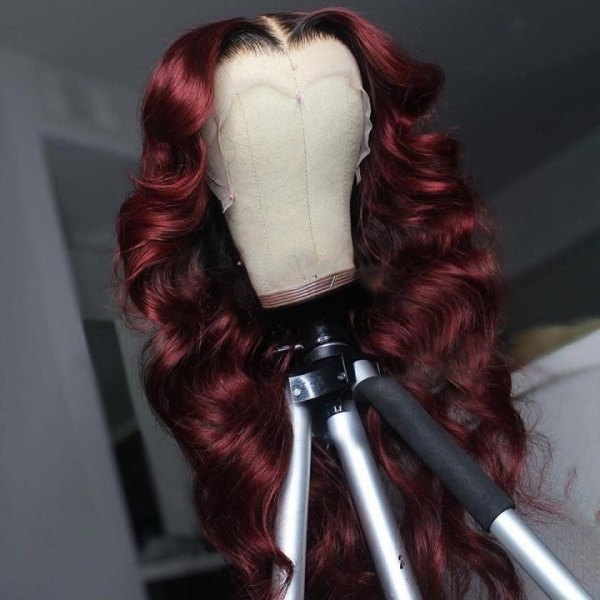 Ulovewigs Human Virgin Hair Pre Plucked Lace Front Wig  Free Shipping (ULW0539)