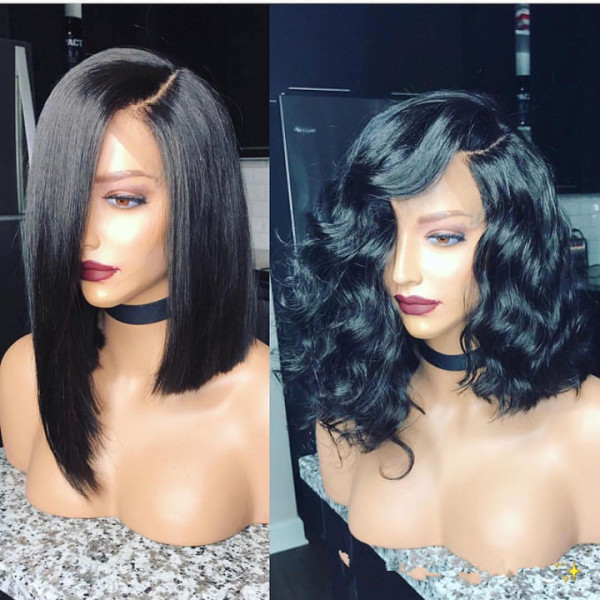 Ulovewigs Human Virgin Hair Pre Plucked HD Swiss Transparent Lace Front Wig And Full Lace Wig Free Shipping (ULW0542)