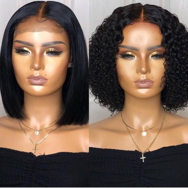 Ulovewigs Human Virgin Hair Pre Plucked HD Swiss Transparent Lace Front Wig And Full Lace Wig Free Shipping (ULW0541)