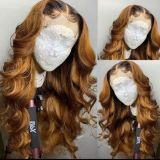 Ulovewigs Human Virgin Hair Ombre Wave Pre Plucked Lace Front Wig Free Shipping (ULW0166)