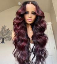 Ulovewigs Human Virgin Hair  Pre Plucked Lace Front Wig  Free Shipping(ULW0073)