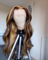 Ulovewigs Human Virgin Hair Wave Pre Plucked  Lace Front Wig Free Shipping (ULW0090)