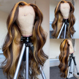 Ulovewigs Human Virgin Hair Wave Pre Plucked  Lace Front Wig 5x5 lace wig Free Shipping (ULW0090)