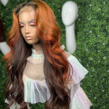 Ulovewigs Human Virgin Hair Ombre wave Pre Plucked Lace Front Wig And 5x5  Lace Wig  Free Shipping (ULW0048)