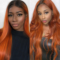Ulovewigs Human Virgin Hair Pre Plucked Lace Front Wig  Free Shipping (ULW0158)
