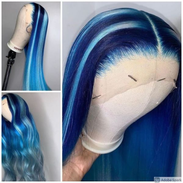 Ulovewigs Human Virgin Hair Pre Plucked Lace Front Wig And Full Lace Wig  Free Shipping (ULW0273)