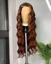 Ulovewigs Human Virgin Hair Ombre Wave Pre Plucked Lace Front Wig  Wig Free Shipping (ULW0150)