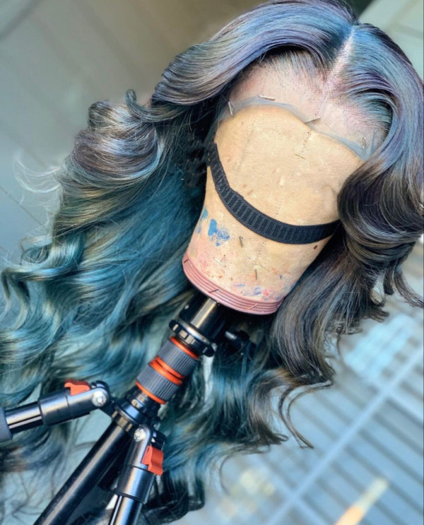 Ulovewigs Human Virgin Hair Ombre Wave Pre Plucked Lace Front Wig   Free Shipping (ULW0151)