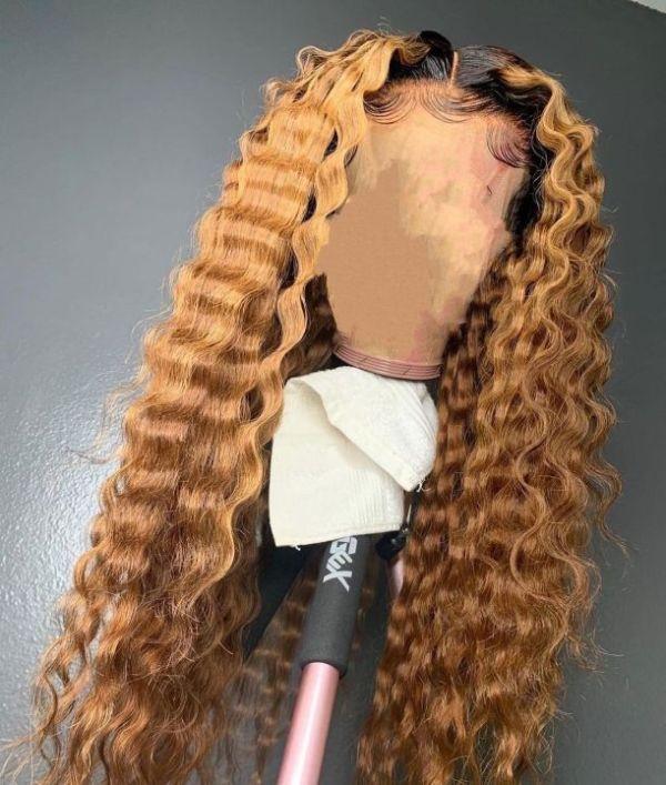 Ulovewigs Human Virgin Hair Wave Pre Plucked 13*6Lace Front Wig And Free Shipping (ULW0077)