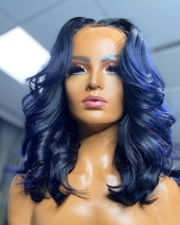 Ulovewigs Human Virgin Hair Pre Plucked Lace Front Wig   Free Shipping (ULW0197)