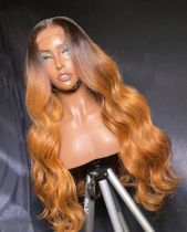 Ulovewigs Human Virgin Hair Pre Plucked Lace Front Wig  Free Shipping (ULW0256)