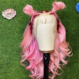 Ulovewigs Human Virgin Hair Pre Plucked Lace Front Wig Free Shipping (ULW0372)