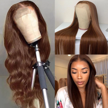 Ulovewigs Human Virgin Hair Pre Plucked Lace Front Wig  Free Shipping (ULW0382)