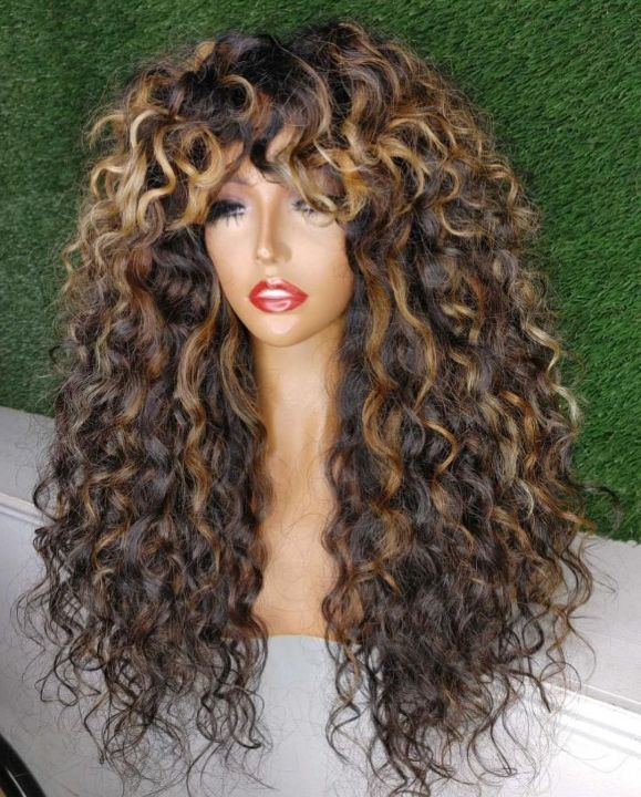 Ulovewigs Human Virgin Hair Pre Plucked Lace Front Wig  Free Shipping (ULW0373)