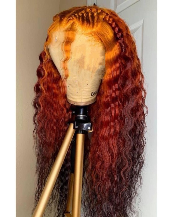 Ulovewigs Human Virgin Hair Pre Plucked Lace Front Wig  Free Shipping (ULW0371)