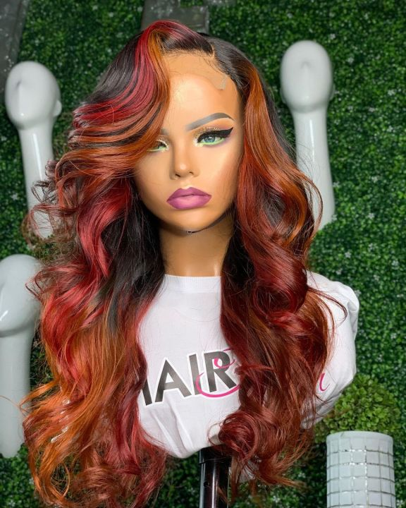 Ulovewigs Human Virgin Hair Pre Plucked Lace Front Wig Free Shipping (ULW0196)