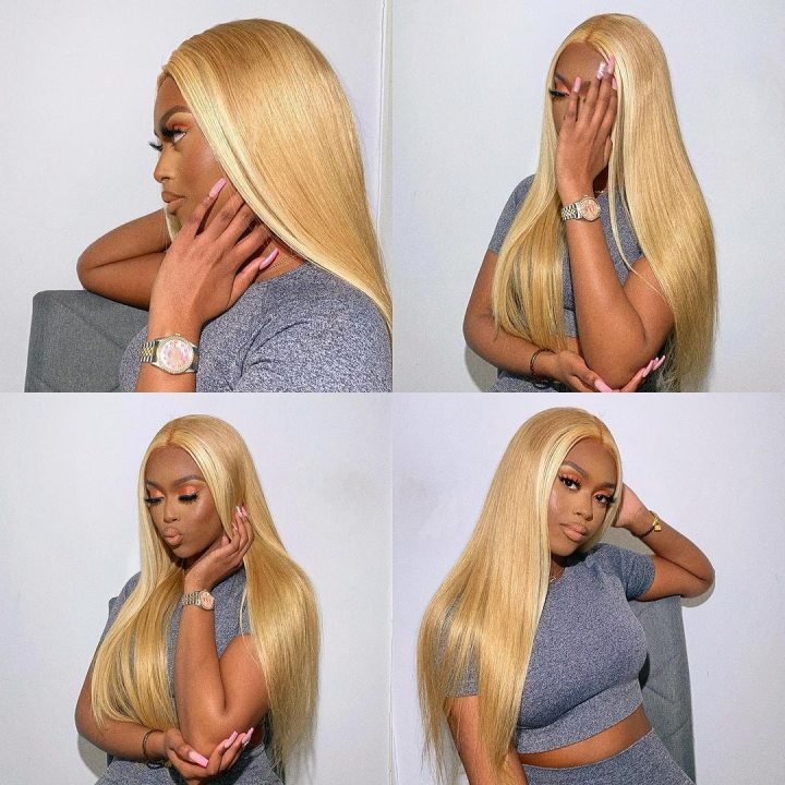 Ulovewigs Human Virgin Hair  Pre Plucked Lace Front Wig  Free Shipping (ULW0148)
