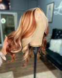 Ulovewigs Human Virgin Hair Pre Plucked Lace Front Wig  Free Shipping (ULW0360)