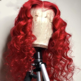 Ulovewigs Human Virgin Hair Pre Plucked Lace Front Wig   Free Shipping (ULW0236)