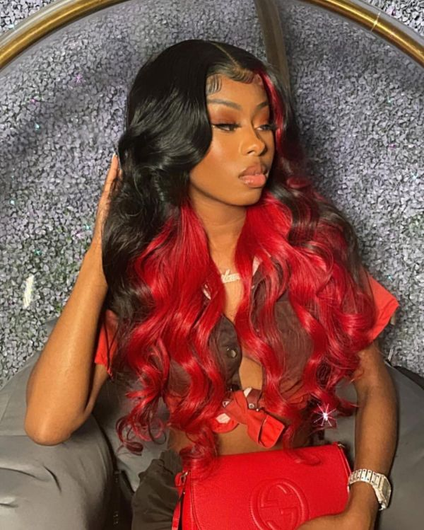 Ulovewigs Human Virgin Hair Pre Plucked  Lace Front Wig Free Shipping (ULW0278)