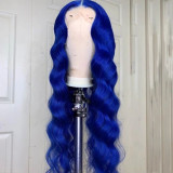 Ulovewigs Human Virgin Hair Wave Pre Plucked Lace Front Wig  Free Shipping (ULW0182)