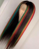 Ulovewigs Human Virgin Hair Pre Plucked Lace Front Wig  Free Shipping (ULW0409)