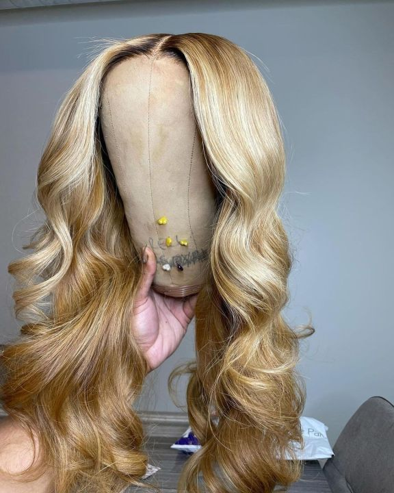 Ulovewigs Human Virgin Hair Pre Plucked Lace Front Wig Free Shipping (ULW0354)