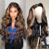 Ulovewigs Human Virgin Hair Pre Plucked Lace Front Wig  Free Shipping (ULW0176)