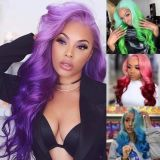 Ulovewigs Human Virgin Hair Pre Plucked Lace Front Wig  Free Shipping (ULW0310)