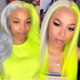 Ulovewigs Human Virgin Hair Pre Plucked Lace Front Wig   Free Shipping (ULW0229)