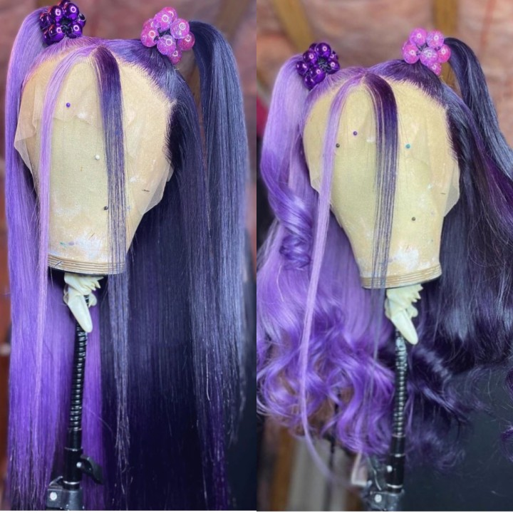 Ulovewigs Human Virgin Hair Pre Plucked Lace Front Wig  Free Shipping (ULW0366)