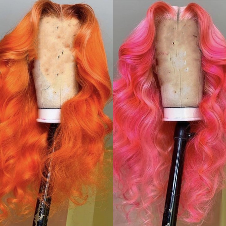 Ulovewigs Human Virgin Hair Pre Plucked Lace Front Wig  Free Shipping (ULW0164)