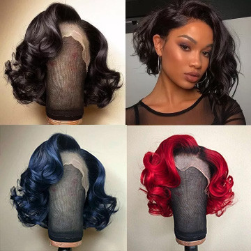 Ulovewigs Human Virgin Hair Pre Plucked Lace Front Wig  Free Shipping(ULW0089)