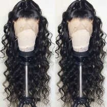 Ulovewigs Human Virgin Hair Loose Curl Pre Plucked Lace Front Wig For Black Woman Free Shipping(ULW0024)