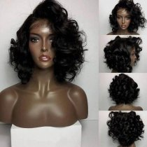 Ulovewigs Human Virgin Hair Pre Plucked Lace Front Wig For Black Woman Free Shipping(ULW0066)